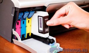 Почему после заправки картриджа принтер пишет что нет чернил