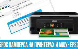 Обзор программ для сброса памперса струйного принтера