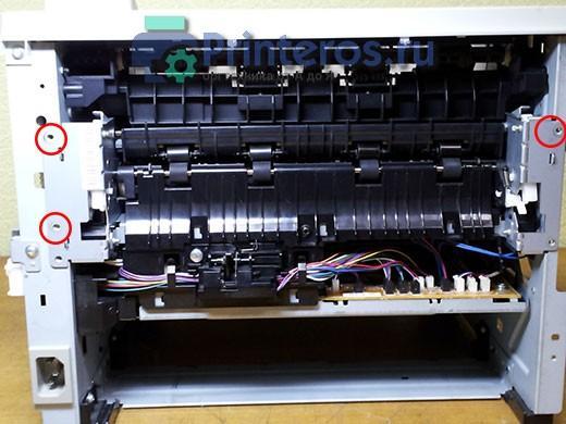 HP P2055 крепление печки