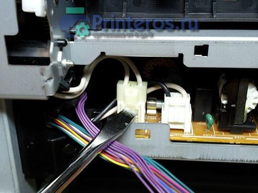 HP 2055 высоковольтный разъем