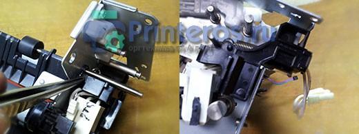 Защитный пластик в термоузле HP P2055