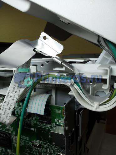 Снятие разъемов сканера ОКИ 441