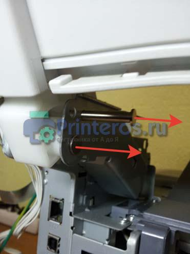 Удаление штифтов крепления сканера ОКИ 441
