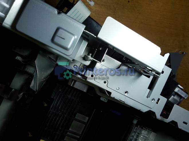 Процесс снятие кронштейна форматтера ОКИ 441