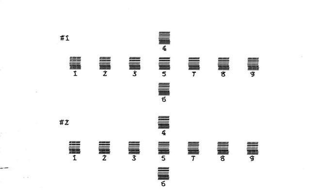 Пример печати калибровочного листа