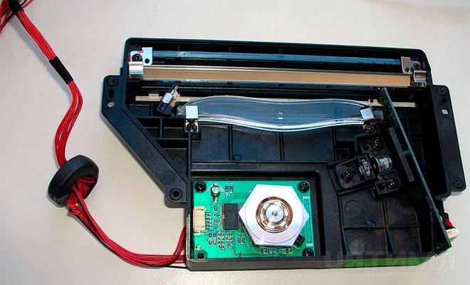 Разобранный лазер из принтера