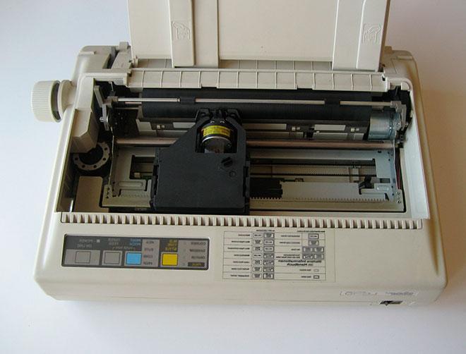 Пример неисправности матричного принтера