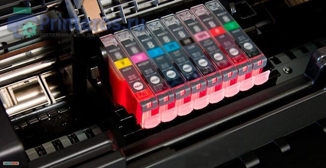 Пример неисправности струйного принтера