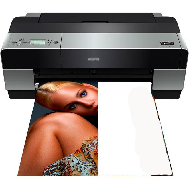Принтер, печатающий половину листа