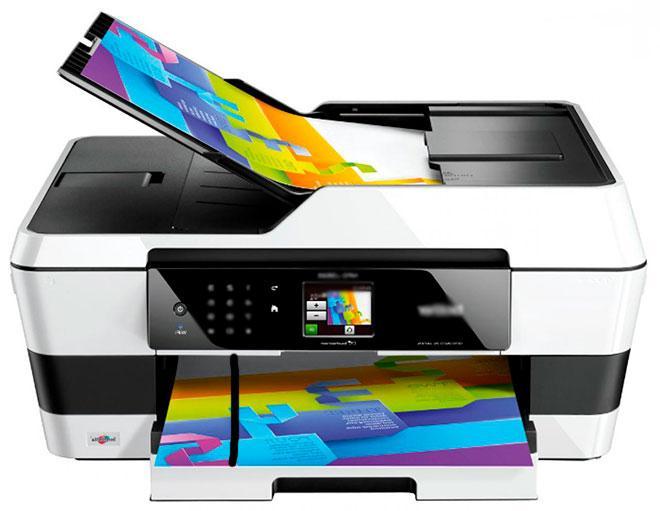 Принтер с автоподатчиком, сканирующим с полосой