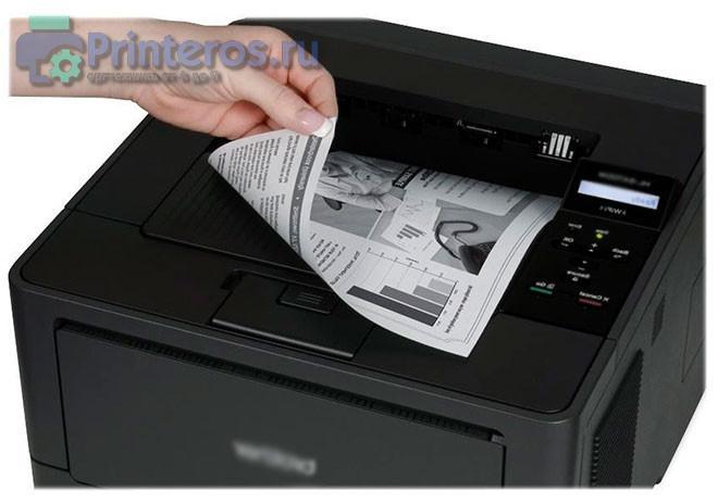 Работа дуплексного модуля в принтере