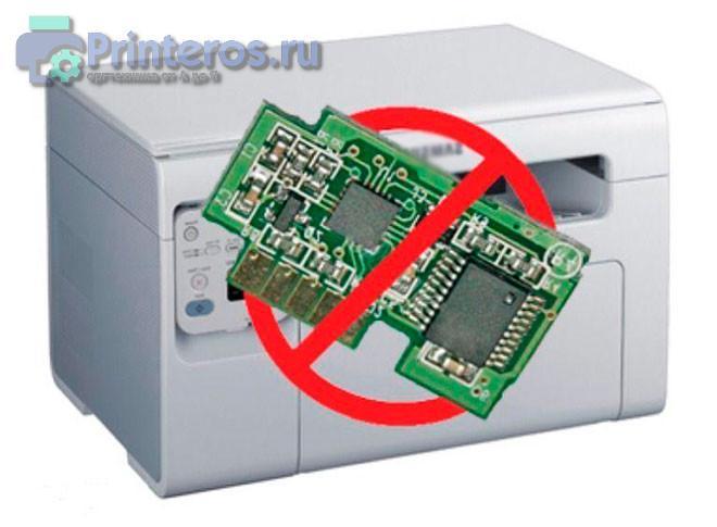 Процесс прошивки принтера