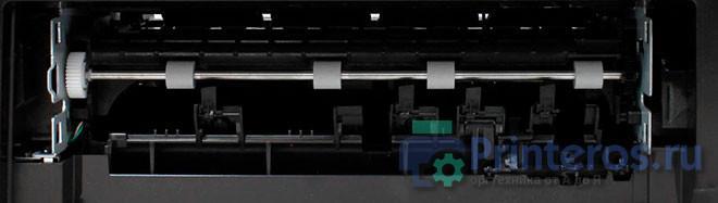 Загрязненные ролики подачи принтера