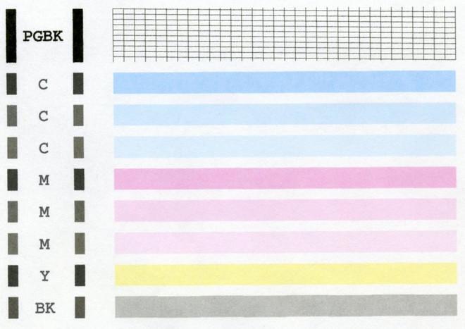 Пример тестового листа печати