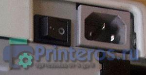 Расположение кнопки включения принтера