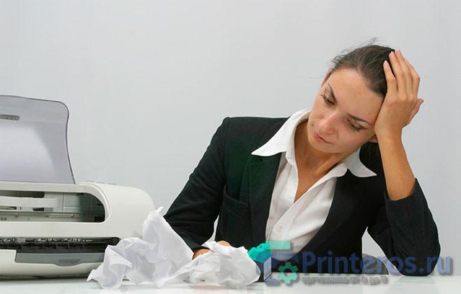 Принтер, заминающий бумагу
