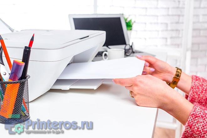 Процесс использования принтера
