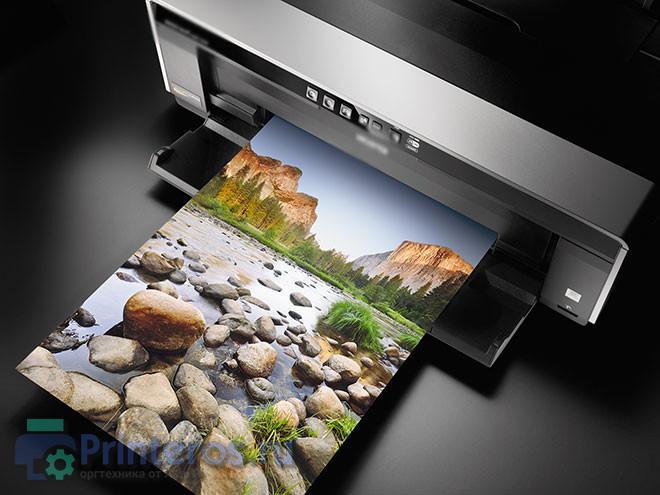 Процесс печати фото 10 на 15 на принтере