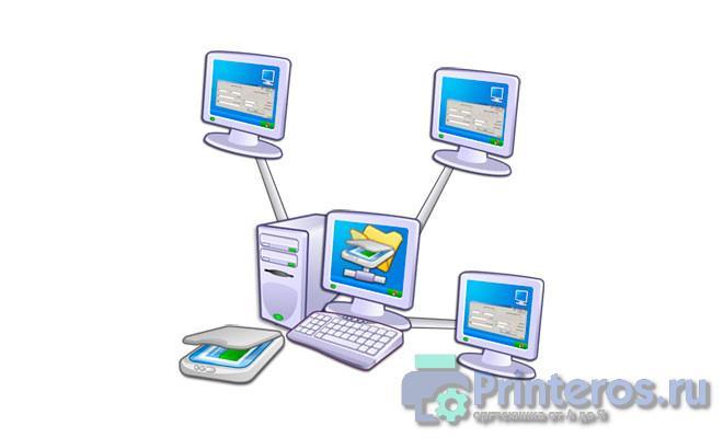 Принципиальная схема сканирования по сети usb сканером