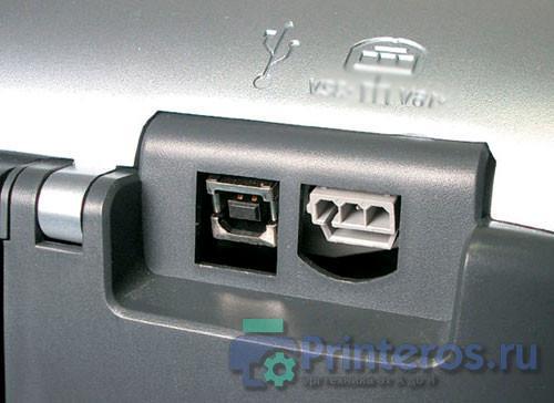 Фото USB разъема принтера