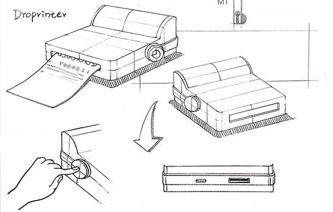 Схематичный чертеж DroPrinter